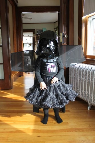 Fairy Princess Darth Vader With TIE-Fighter Wings