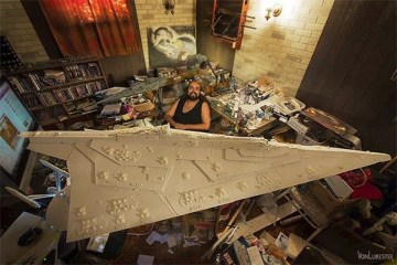 "Gigantic Hand-Carved ""Star Wars"" Star Destroyer Model"