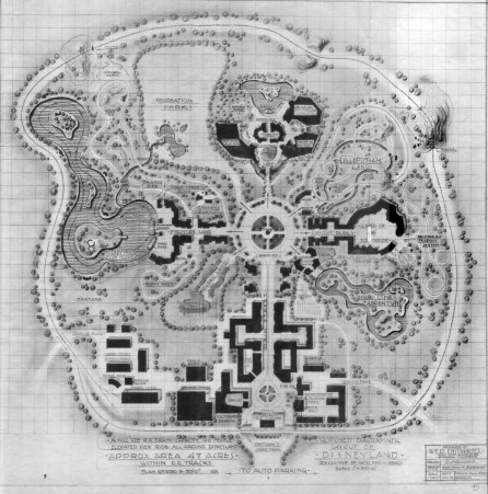 Disneyland proposed map