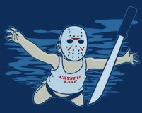"Nirvana/Friday the 13th-inspired ""Jason's Nirvana"" t-shirt"