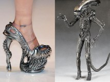 Alien-inspired high heels