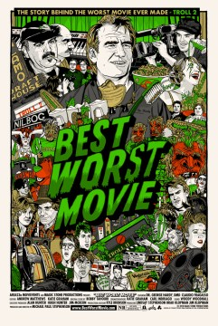 Best Worst Movie Theatrical Poster [Green Gold Version]