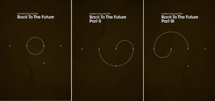 Jamie Bolton's Back to the Future trilogy Movie Poster set