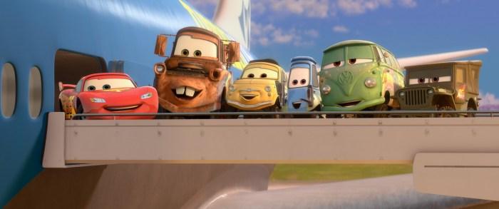 Lighting, Mater, Luigi, Guido, Fillmore and Sarge