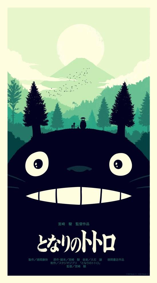 Olly Moss - My Neighbor Totoro variant
