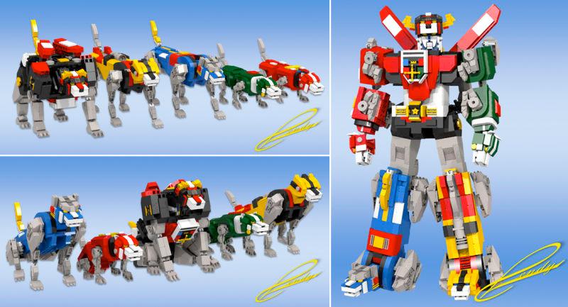 ¿Cuánto darías por tener este LEGO de Voltron?