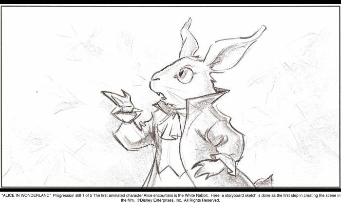 Alice in Wonderland: White Rabbit Progression 1 of 5