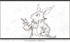 Alice in Wonderland: White Rabbit Progression 1 of 5