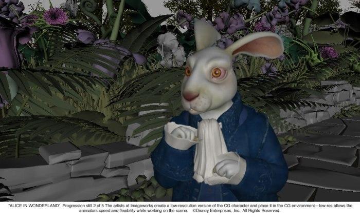 Alice in Wonderland: White Rabbit Progression 2 of 5