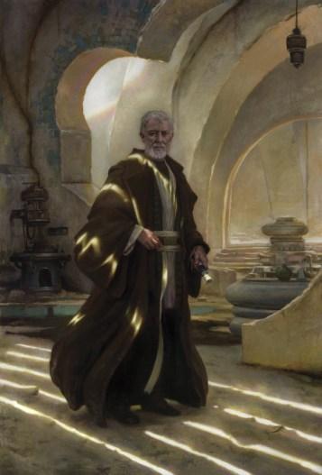 Star Wars: Visions, a portrait of Obi-Wan Kenobi by artist Donato Giancola