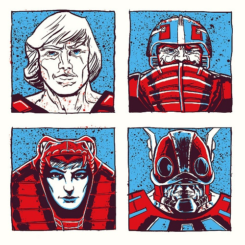 Under The Influence Art Show: Masters of the Universe - He-Man - The Bad and the Ugly by Alex Fugazi