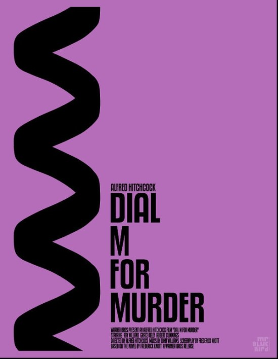 Mario Graciotti's Poster for Hitchcock's Dial M For Murder