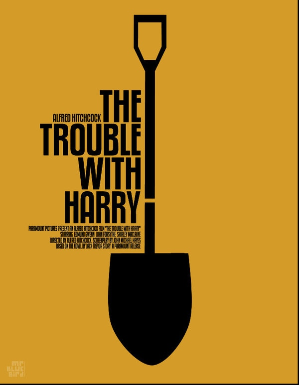 Mario Graciotti's Poster for Alfred Hitchcock's The Trouble With Harry
