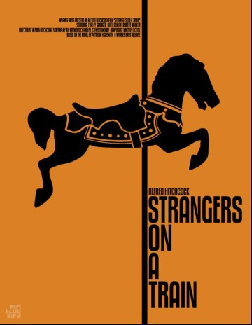 Mario Graciotti's Poster for Hitchcock's Strangers on a Train