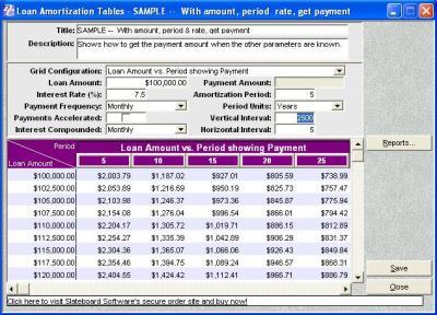 Debt Elimination Calculator Software Plus Edition Features