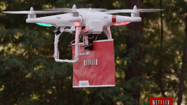 Netflix's Drone Delivery Service Will Scare the Crap Out of You