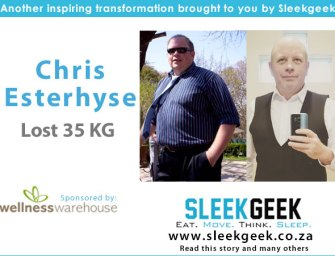Chris Esterhyse overcame emotional eating and lost 35kgs
