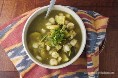 Slow Cooker Sunday: Vegetarian Pozole - Slender Kitchen