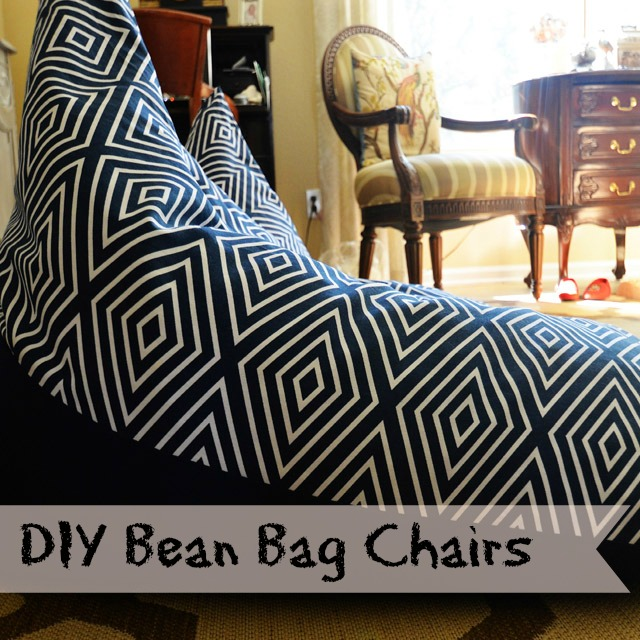 Textile Tuesday:  DIY Bean Bag Chairs