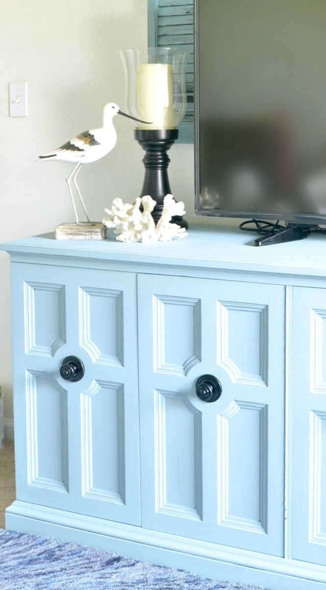 Fab Flippin' Furniture Contest with Pure and Original Paint {Media Console}