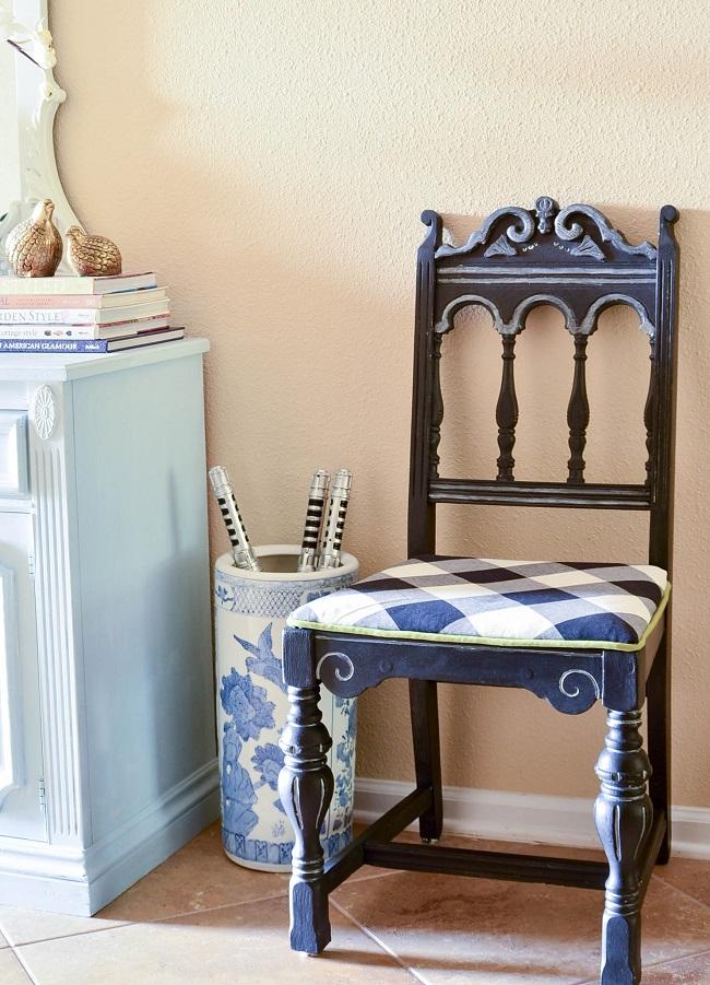 DIY Metallic Furniture Chair Makeover
