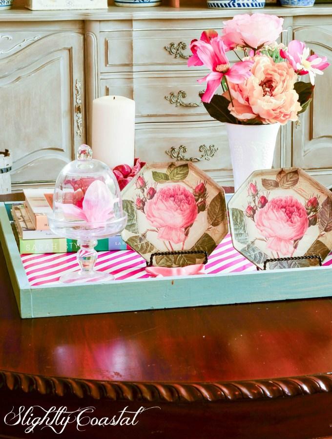 Blush and Pink Flamingo Living Room