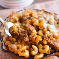 Pulled Pork Pasta Bake