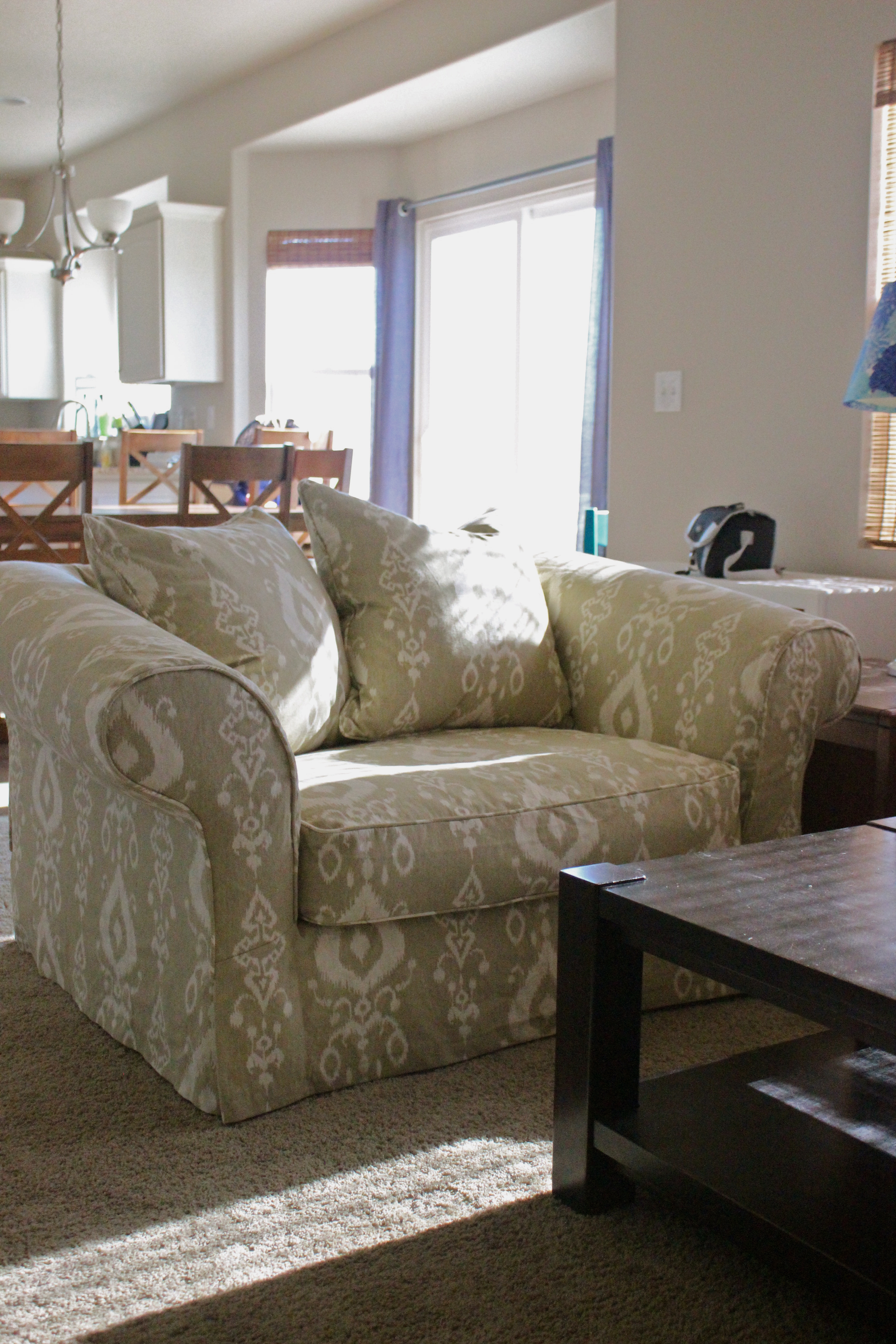 Ikat Chair Slipcovers by Shelley