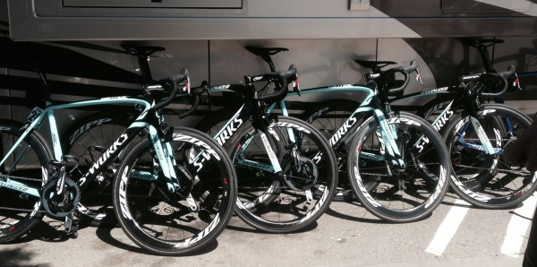 Cycling Team Omega Pharma Quickstep's bicycles