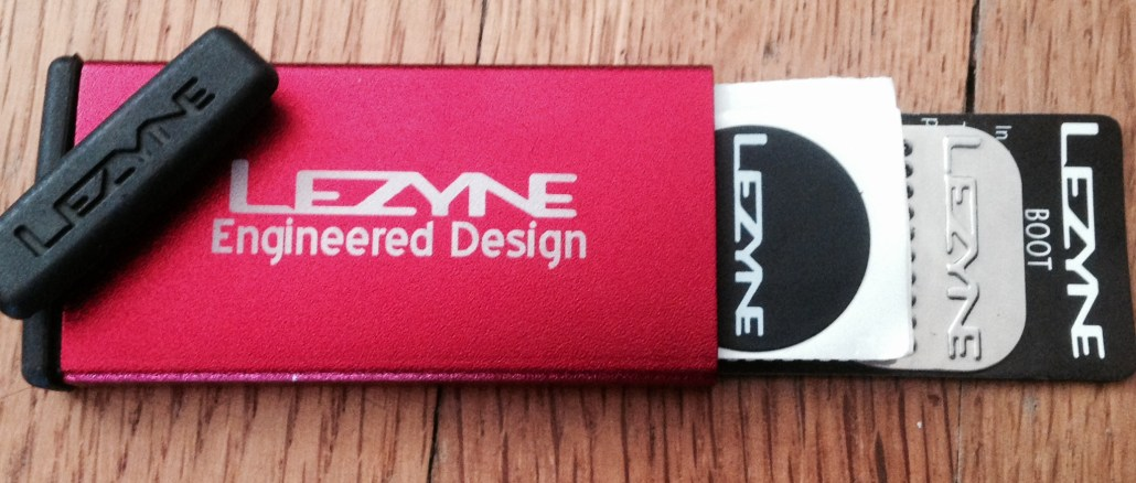 Lezyne Smart Patch Kit with Red Alloy Case