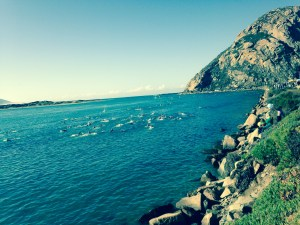Morro Bay triathlon swim course