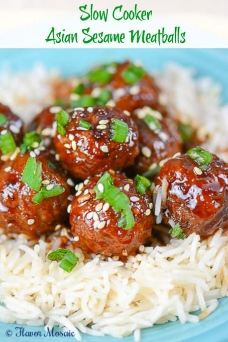 asian sesame meatballs