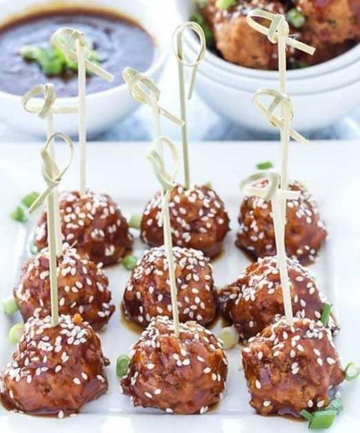teriyaki slow cooker meatballs