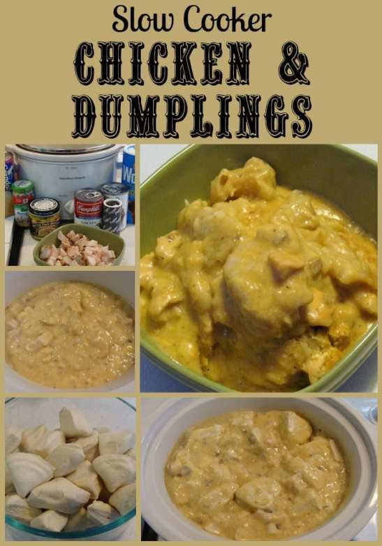 Slow Cooker Chicken & Dumplings. Find this and more delicious crockpot recipes @ http://www.slowcookerkitchen.com