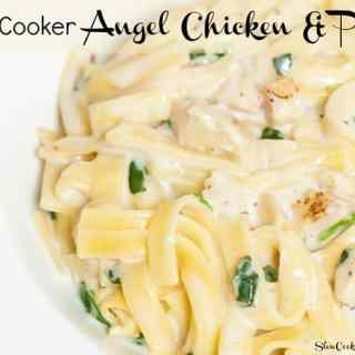 Slow Cooker Angel Chicken Pasta! Visit us @ http://www.slowcookerkitchen.com