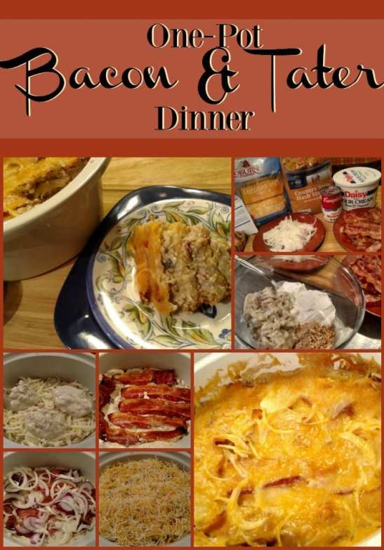 One-Pot Bacon Potato Casserole! Find this & more yumminess @ http://www.slowcookerkitchen.com
