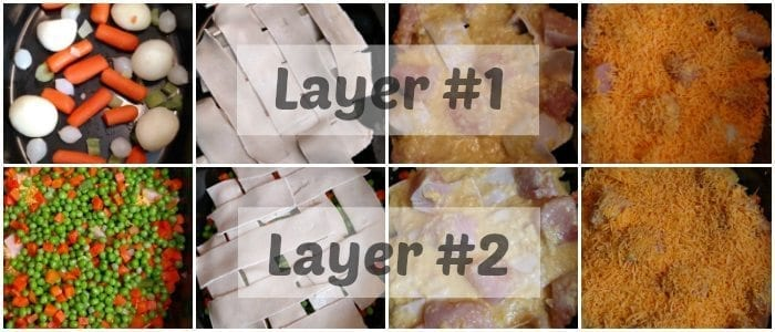 Crockpot Chicken Pot Pie Layers