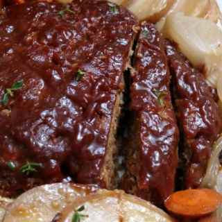Cheesy Crockpot Meatloaf