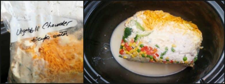 Vegetable Chowder Freezer meal