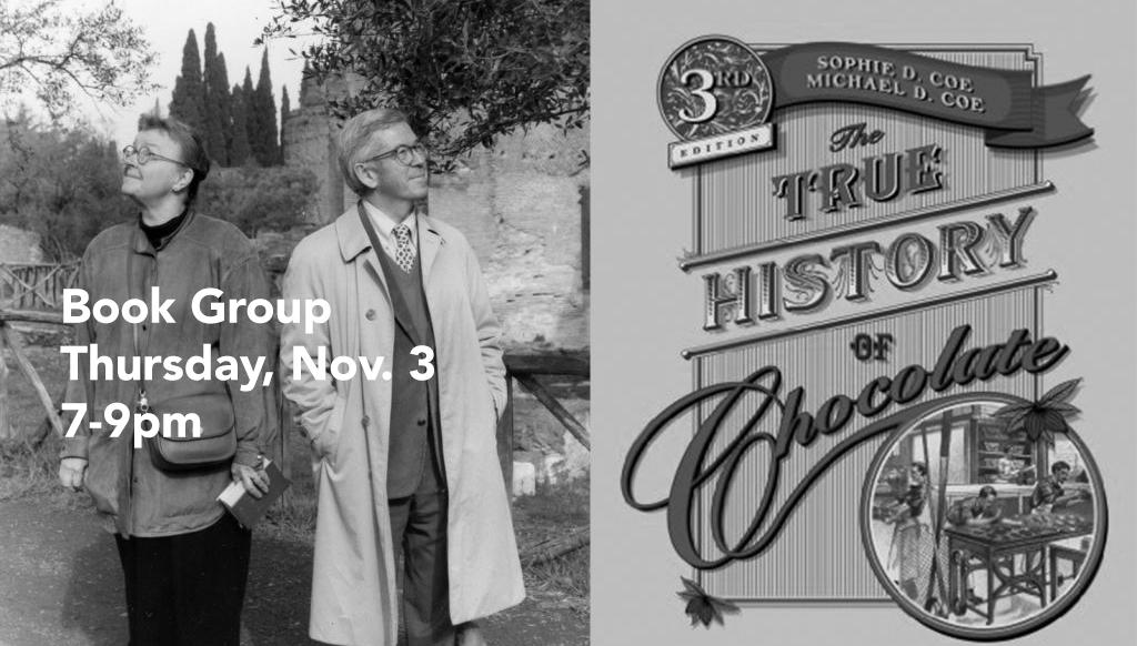 Book Group, Thursday, Nov. 3, 7-9pm