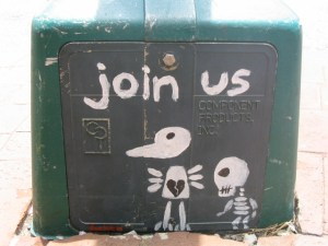 Won't you join us in our journey? It's less weird than this graffiti I promise!