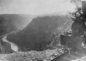 Deforested Pine Creek Gorge (from Wikipedia)