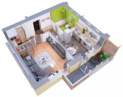 Small Of Modern Apartment Floor Plan