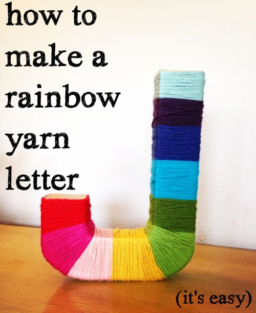 How to make a Rainbow yarn Letter