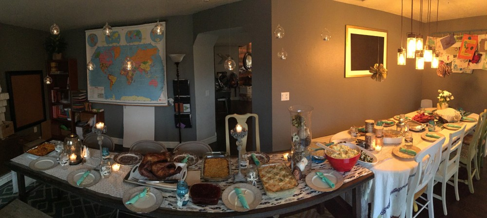 the Thanksgiving spread