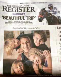 Mother's Day on the Cover of the OC Register