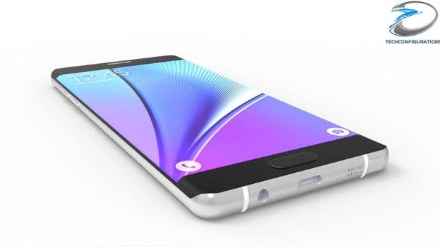 Samsung Galaxy™ Note siete render en 3D