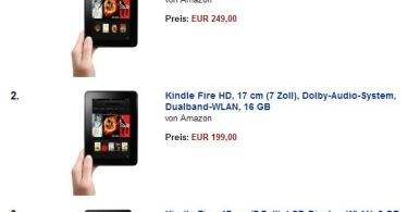 kindle fire bestsellerliste