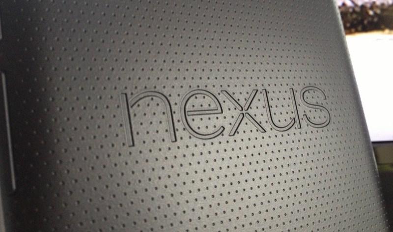 Nexus 7 Schriftzug