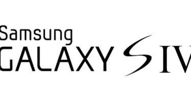Galaxy S4 Schriftzug